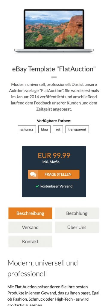 Demo zur mobilen User Experience (UX).